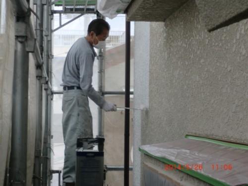 横浜市保土ヶ谷:モルタル外壁下塗り