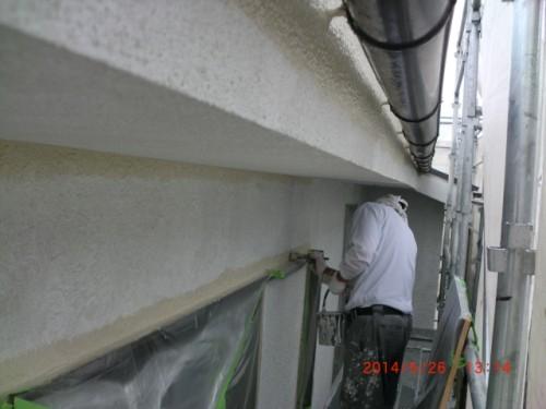 横浜市保土ヶ谷:モルタル外壁中塗り2