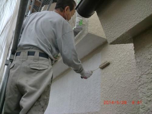 横浜市保土ヶ谷区:モルタル外壁中塗り