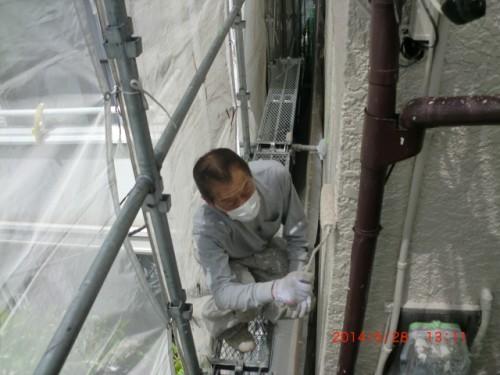 横浜市保土ヶ谷区:モルタル外壁上塗り