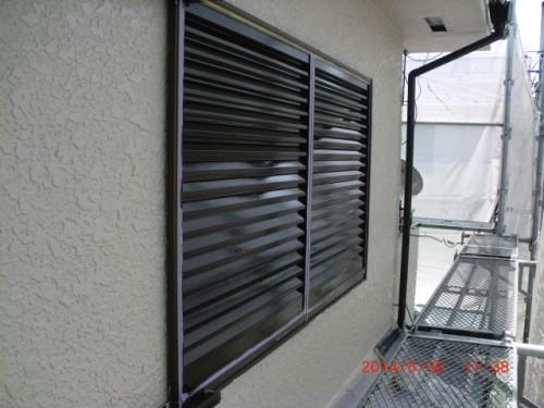 横浜市保土ヶ谷区:雨戸上塗り完了