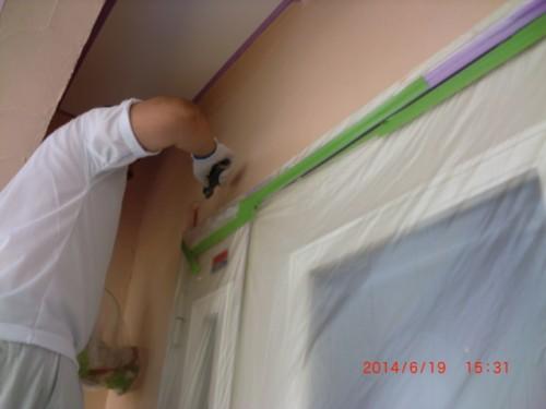横浜市旭区:外壁中塗り2