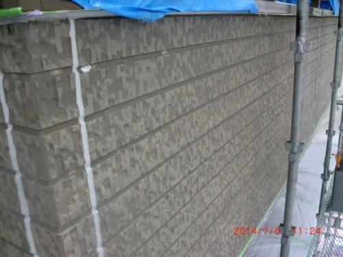 横浜市戸塚区:サイディング外壁下塗り後
