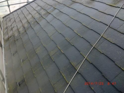 川崎市多摩区:洗浄前の屋根