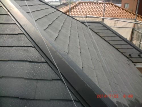 川崎市多摩区:洗浄前の屋根2