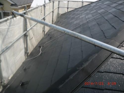 川崎市多摩区:洗浄後の屋根