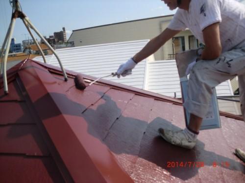 川崎市多摩区:屋根上塗り