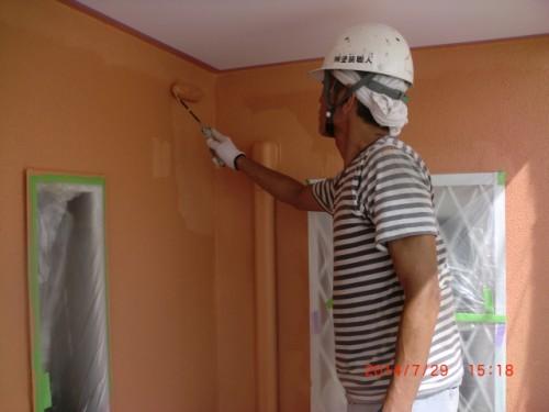 川崎市多摩区:モルタル外壁上塗り