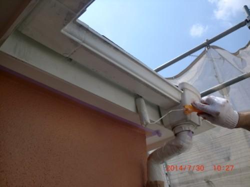 川崎市多摩区:破風・雨樋塗装