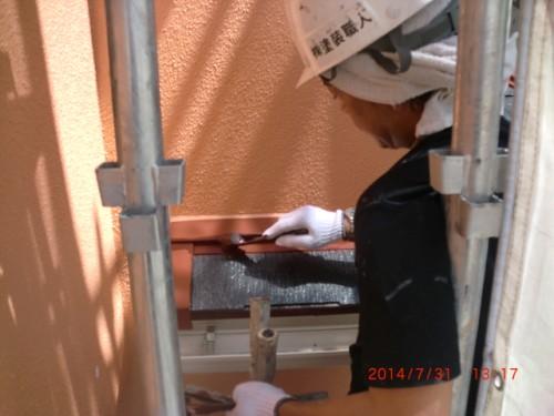川崎市多摩区:下屋根中塗り