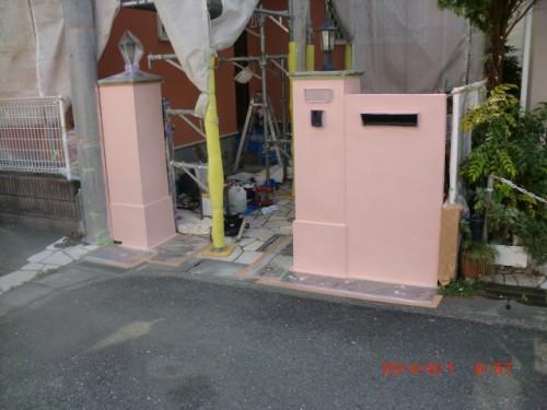 川崎市多摩区:門塀中塗り後2