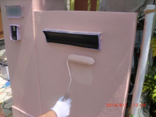 川崎市多摩区:門塀上塗り