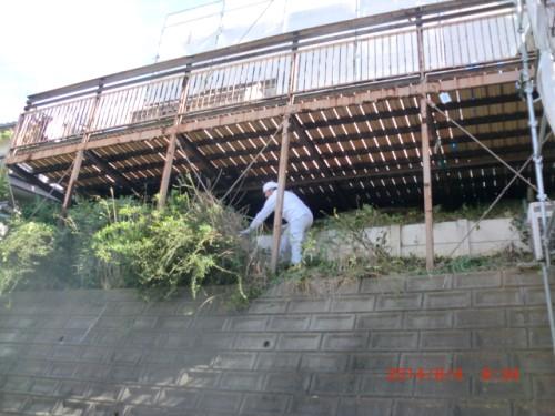 川崎市麻生区:テラス下草木刈り2