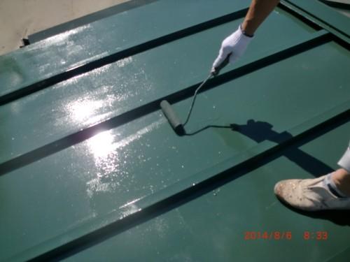 川崎市麻生区:トタン屋根上塗り