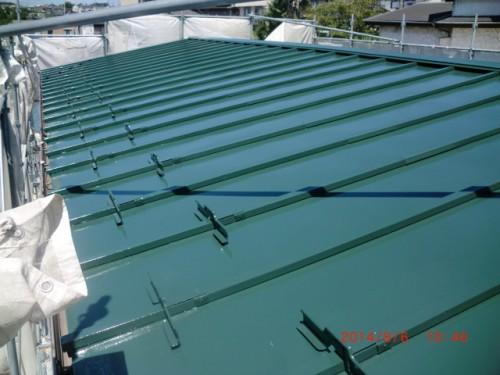 川崎市麻生区:屋根上塗り後