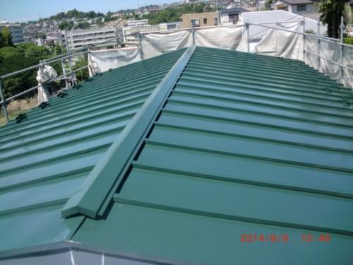 川崎市麻生区:屋根上塗り後2