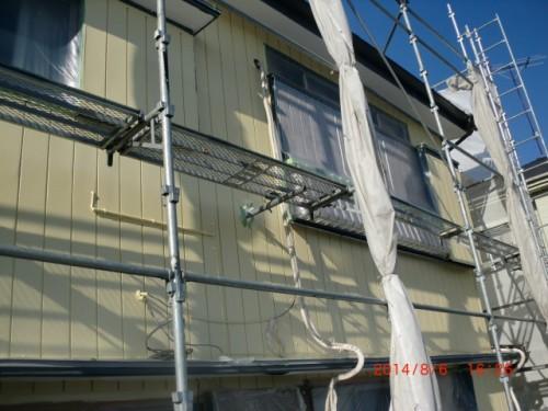 川崎市麻生区:外壁中塗り後