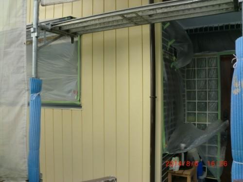 川崎市麻生区:外壁中塗り後2