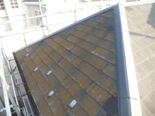 2014年2月3日 青葉区梅が丘:コロニアル屋根洗浄前