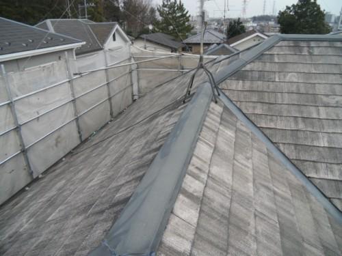 2014年2月3日 青葉区梅が丘:コロニアル屋根洗浄後