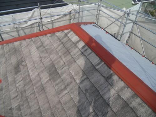 2014年2月19日 青葉区梅が丘:屋根下塗り完了2