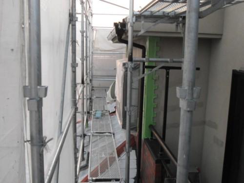 2014年2月19日 青葉区梅が丘:下屋根下塗り完了