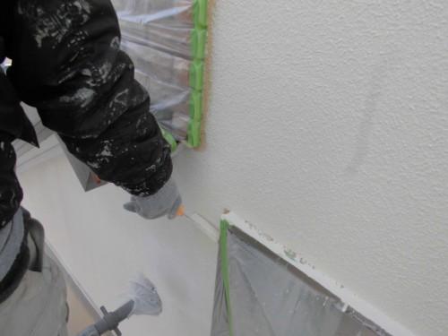 2014年3月7日 川崎市多摩区:外壁中塗り
