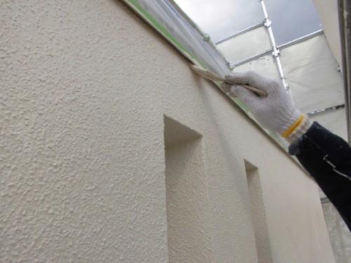 2014年3月7日 川崎市多摩区:外壁上塗り