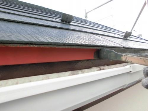 2014年3月7日 川崎市多摩区:屋根小口塗装
