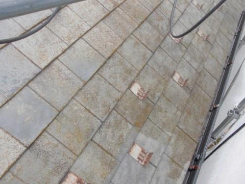 茅ヶ崎市矢畑:洗浄前の屋根