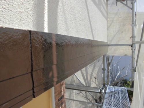 2014年3月15日 川崎市多摩区:幕板上塗り完了
