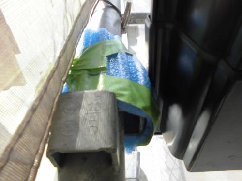 茅ヶ崎市矢畑:カバーをかけた足場金具