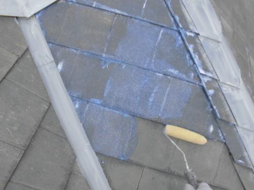 茅ヶ崎市矢畑:屋根断熱シーラー下塗り