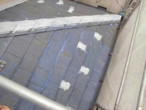 茅ヶ崎市矢畑:屋根断熱下塗り後