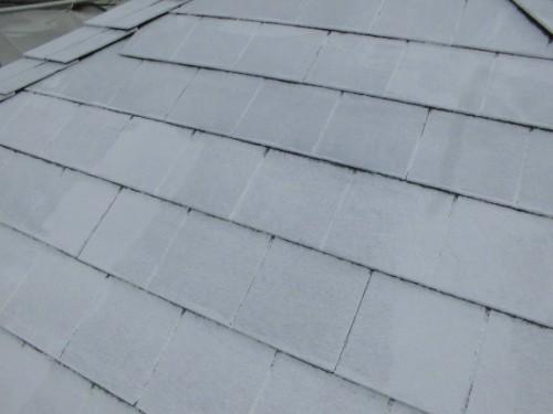 茅ヶ崎市矢畑:屋根中塗り1回目完了