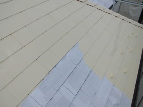 茅ヶ崎市矢畑:屋根中塗り2回目