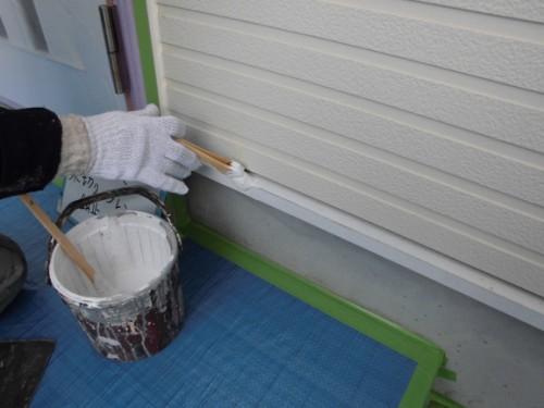 2014年3月10日 栄区公田町:水切りサビ止め塗布