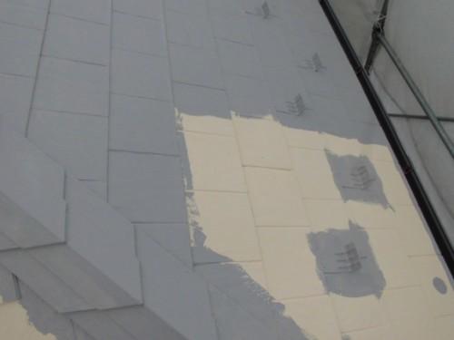 茅ヶ崎市矢畑:屋根断熱上塗り1回目2