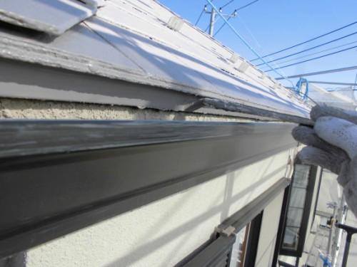 茅ヶ崎市矢畑:屋根上塗り2回目