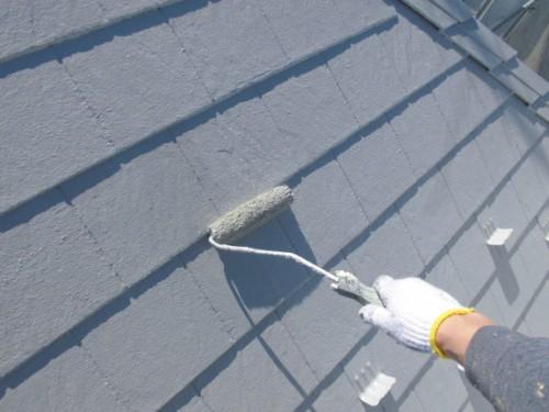 茅ヶ崎市矢畑:屋根上塗り2回目2