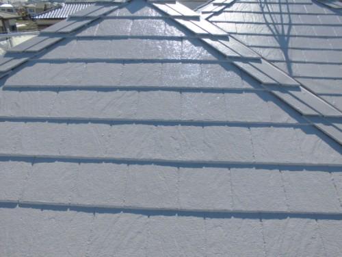 茅ヶ崎市矢畑:屋根上塗り2回目完了