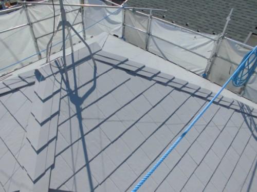 茅ヶ崎市矢畑:屋根断熱塗装完了