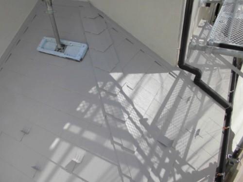 茅ヶ崎市矢畑:下屋根断熱塗装完了