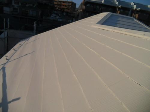 旭区鶴ヶ峰本町:屋根中塗り2回目完了