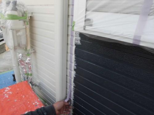 2014年3月16日 栄区公田町:外壁境界の養生