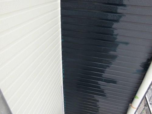 2014年3月18日 栄区公田町:外壁中塗りダメ込み2