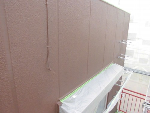 横浜市神奈川区:ALC外壁上塗り完了後
