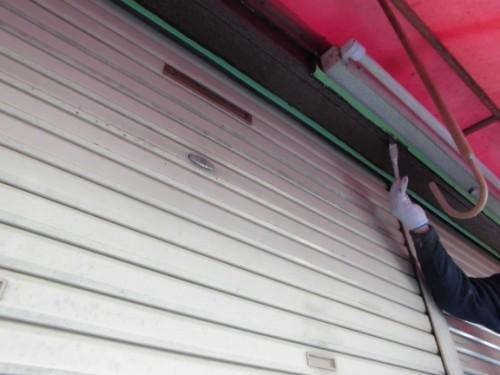 横浜市神奈川区:玄関周り外壁上塗り
