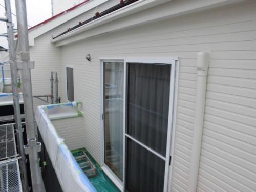 2014年3月19日 栄区公田町:上塗り完了の外壁