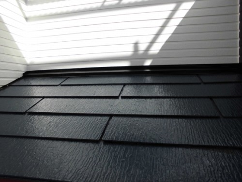 2014年3月22日 栄区公田町:下屋根中塗り後